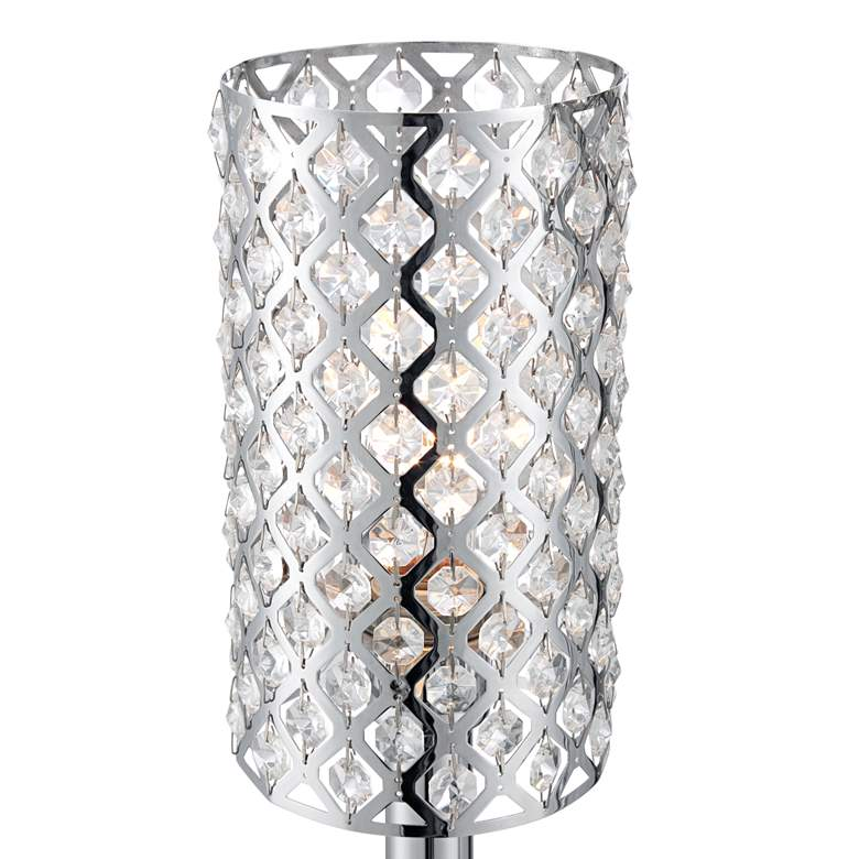 Possini Euro 3 Tier Glitz Crystal And Chrome Floor Lamp