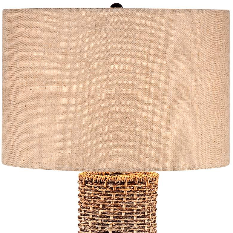 Woven Seagrass and Burlap Table Lamp more views