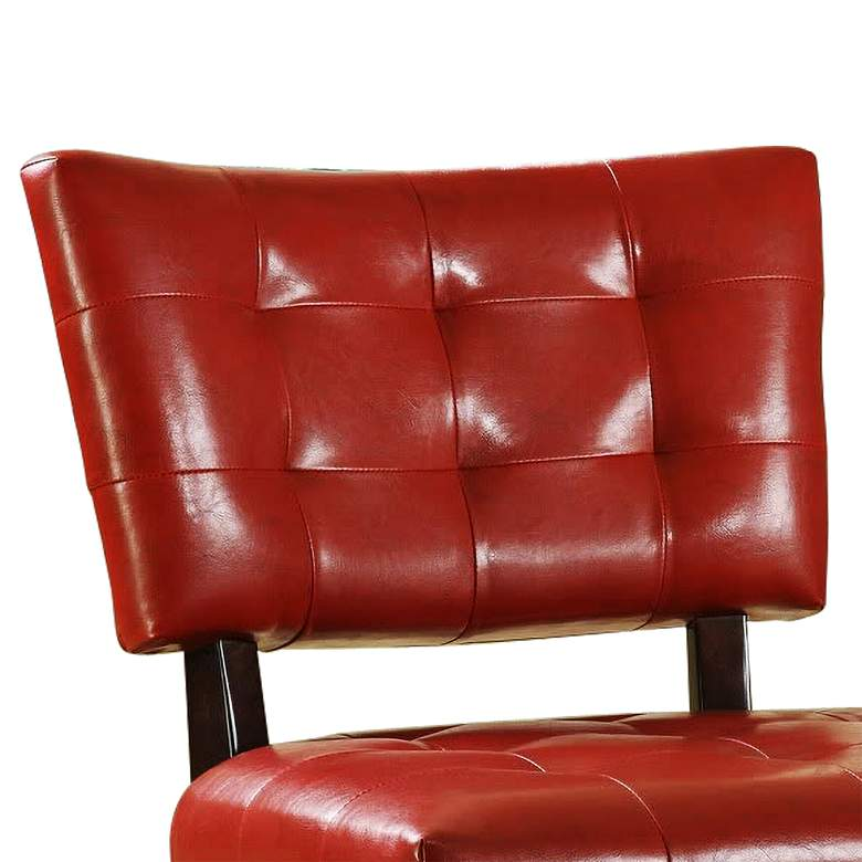 HomeBelle Red Faux Leather Accent Chair more views