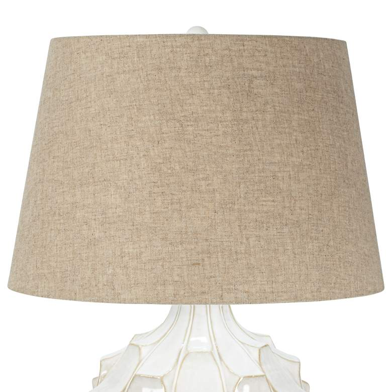 Cosgrove Round White Ceramic Modern Table Lamp more views