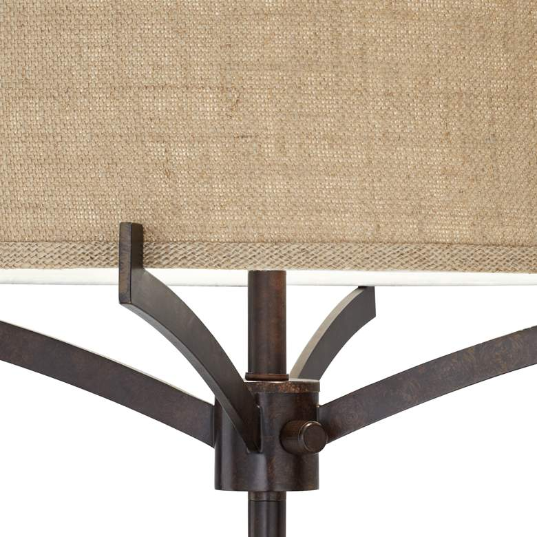 Franklin Iron Works™ Tremont Floor Lamp with Burlap Shade more views