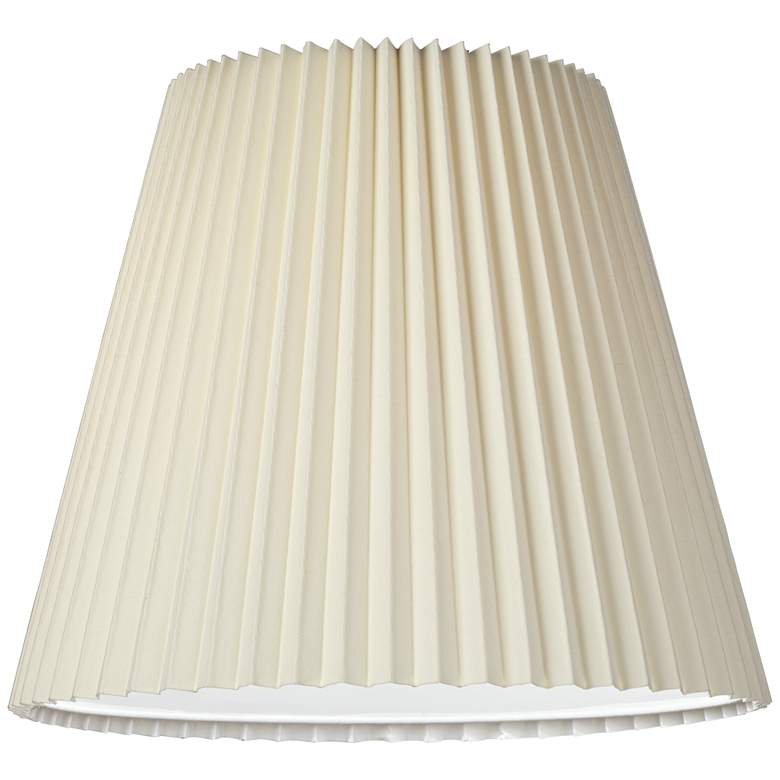Ivory Pleated Shade 10x17x14.75 (Spider) more views
