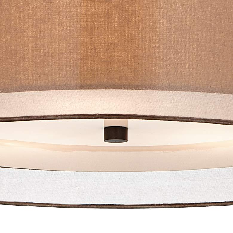 "Possini Euro Double Shade 20"" Wide Bronze Pendant Light more views"