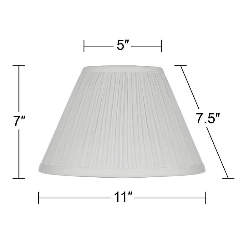 White Mushroom Pleated Lamp Shade 5x11x7.5 (Clip-On) more views