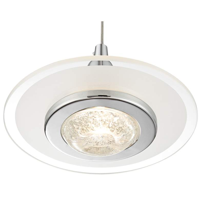 "Possini Euro Menos 6 1/4"" Wide Chrome LED Mini Pendant Light more views"