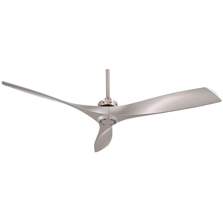 "60"" Minka Aire Aviation Brushed Nickel Ceiling Fan more views"