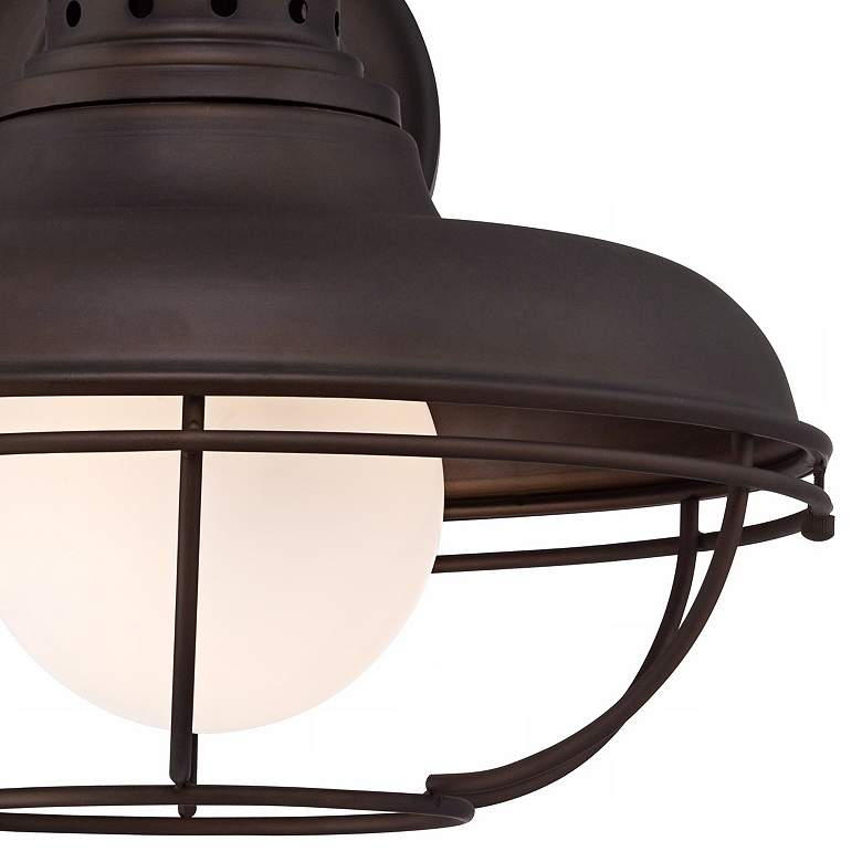 "Franklin Park 16"" High Bronze Metal Cage Outdoor Wall Light more views"