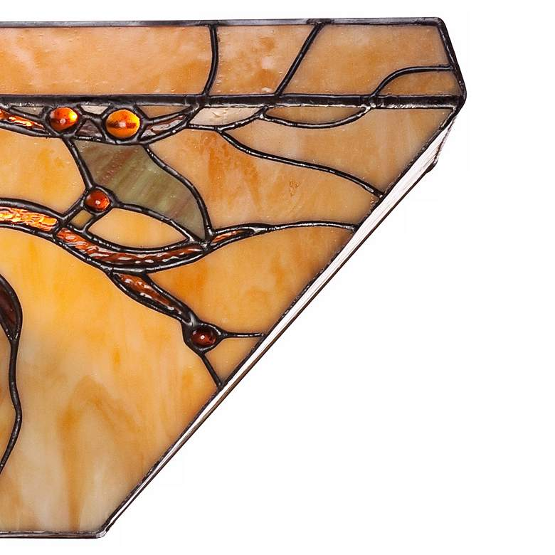 "Budding Branch 14"" Wide Tiffany Style Glass Wall Sconce more views"