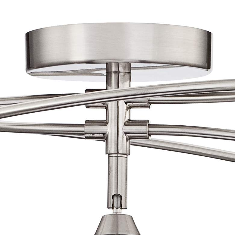 "Possini Euro Orella 28 1/2""W Brushed Nickel Ceiling Light more views"