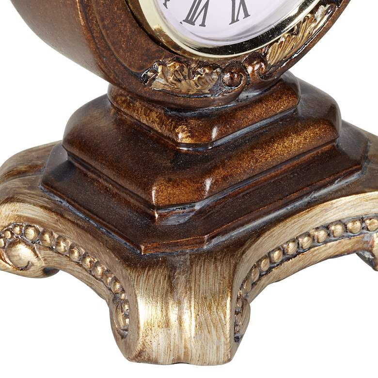 "A la Mode 8 1/2"" High Traditional Table Clock more views"