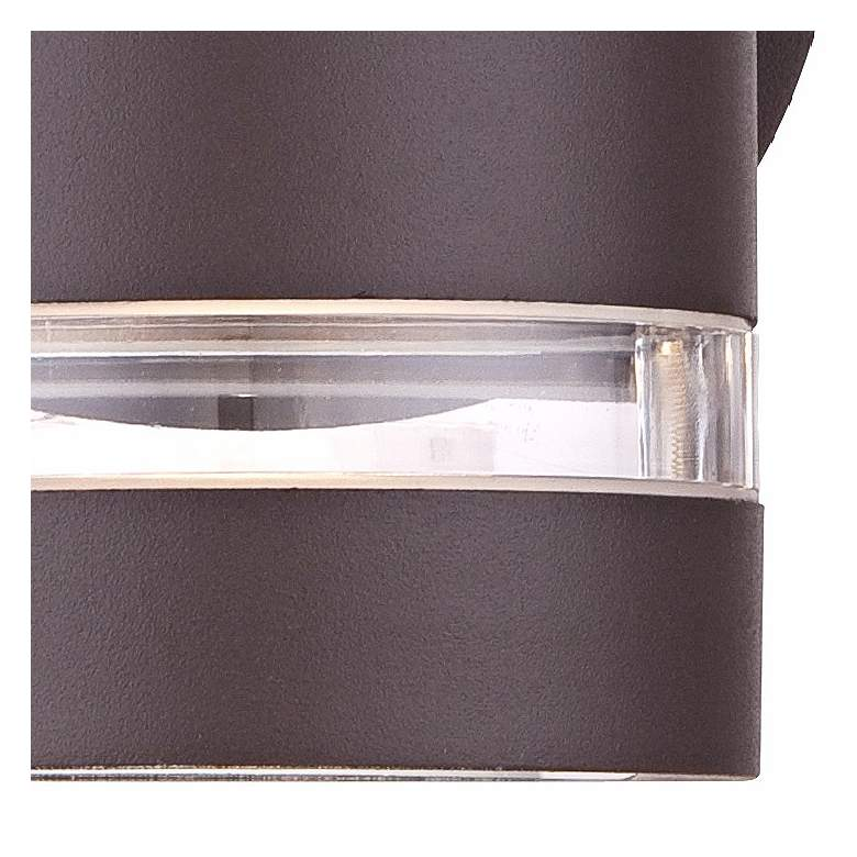 "Wynnsboro 7 3/4"" High Bronze LED Outdoor Up and Downlight more views"