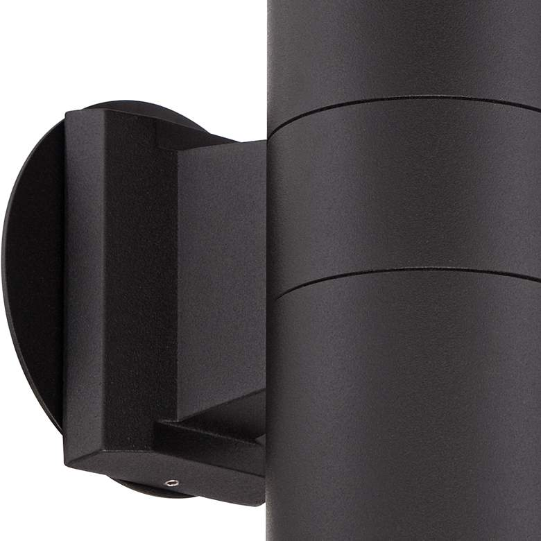"Possini Euro Ellis 11 3/4""H Black Up-Down Outdoor Wall Light more views"