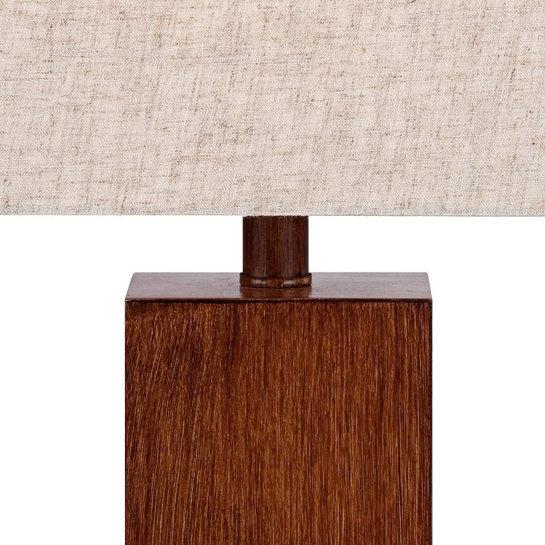 Incredible Darryl Wood Finish Rectangular Table Lamp Squirreltailoven Fun Painted Chair Ideas Images Squirreltailovenorg