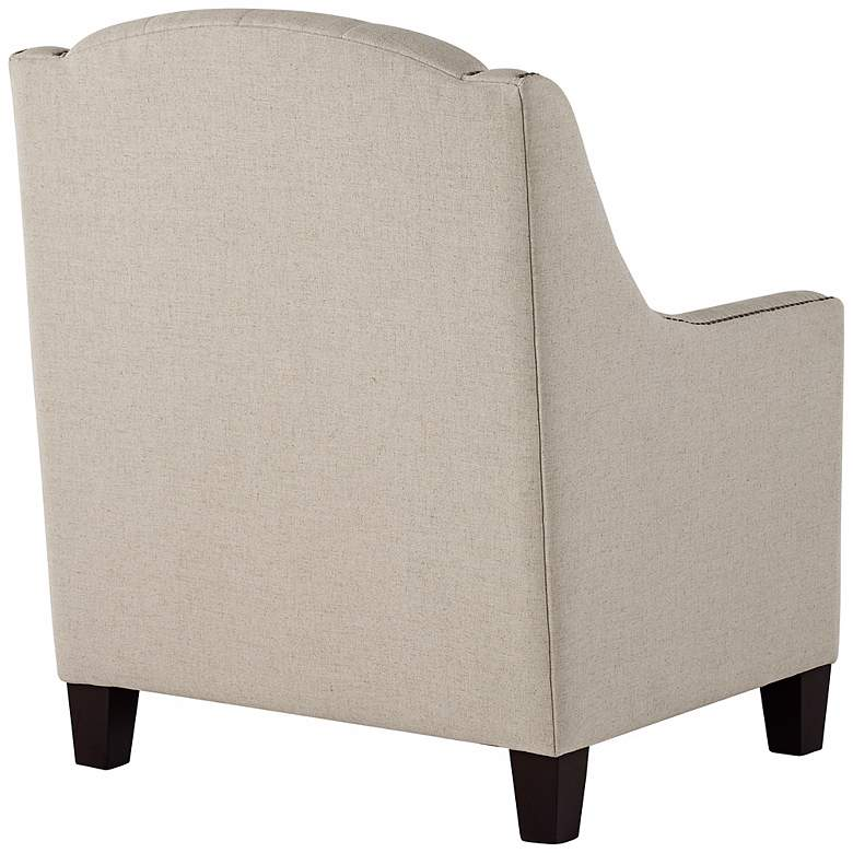 Tivoli Beige Linen Tufted Armchair more views
