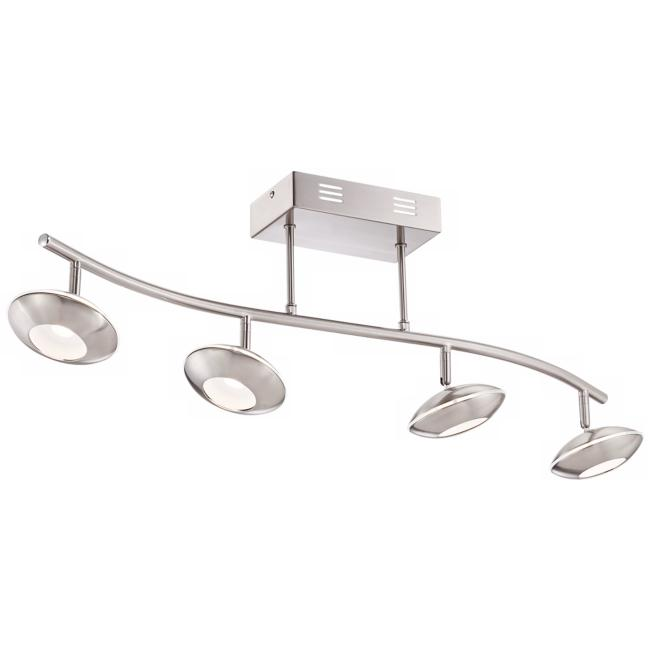 Pro Track Thurston Satin Nickel 4-LED Track Light Kit