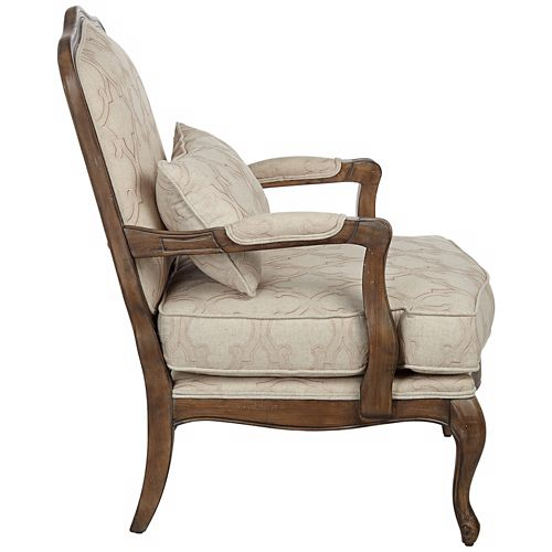 Kensington Hill Ducey Ivory Trellis Accent Chair