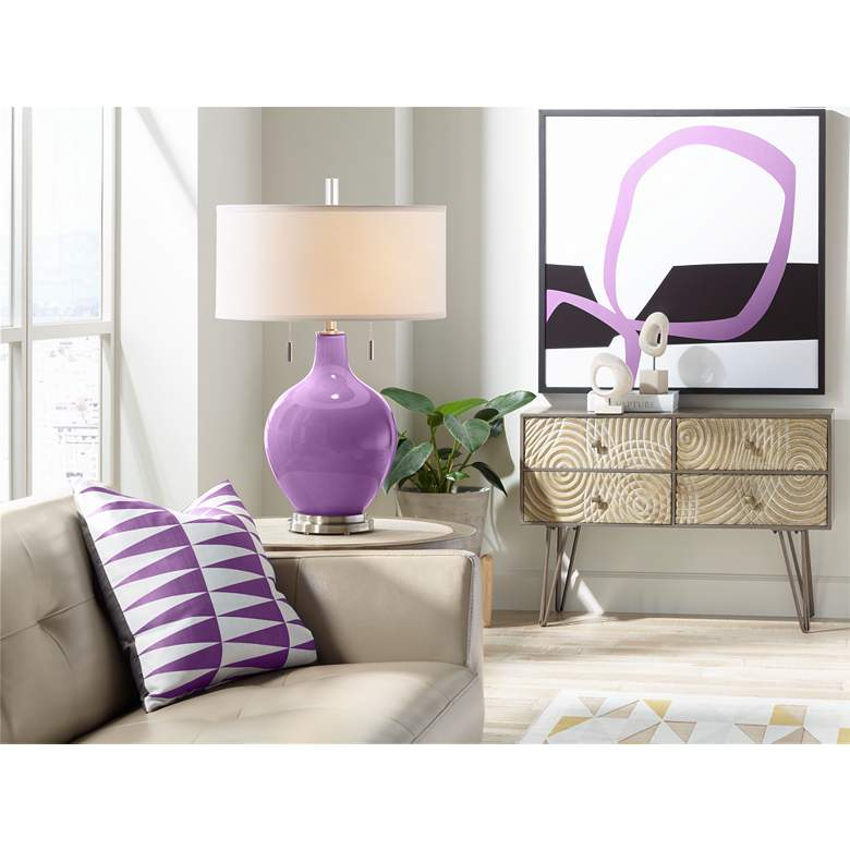Passionate Purple Toby Table Lamp more views