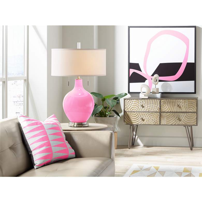 Candy Pink Toby Table Lamp more views