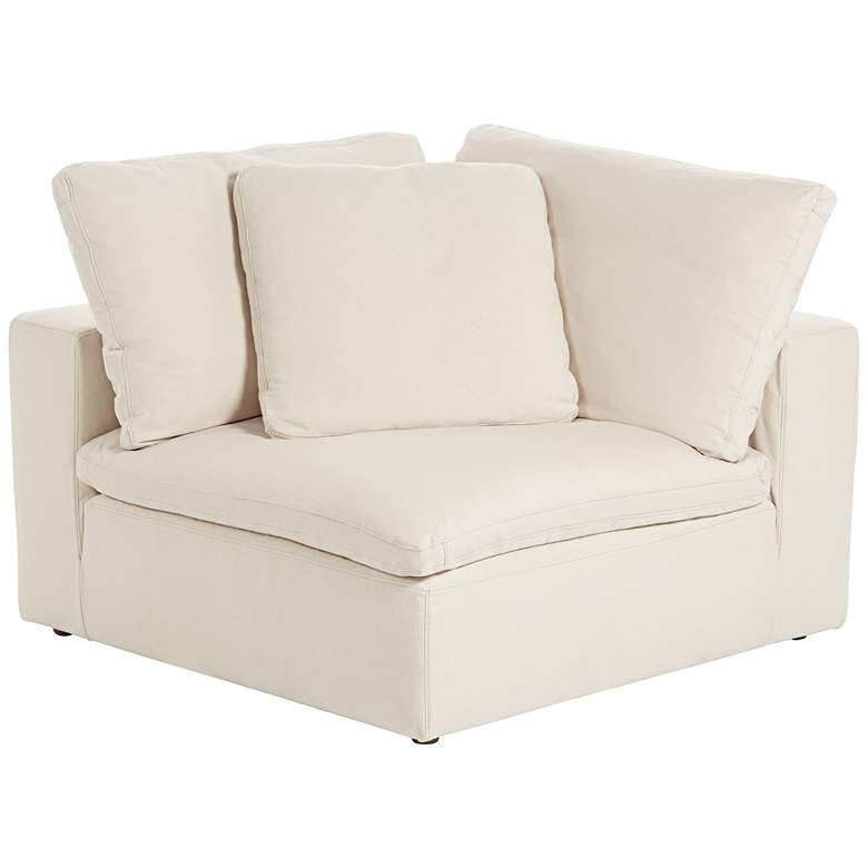 Skye Classic Natural Linen 4-Pc Corner Modular Sectional more views