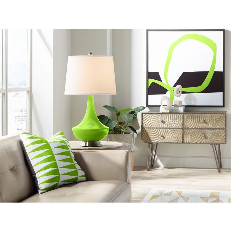 Neon Green Gillan Glass Table Lamp more views