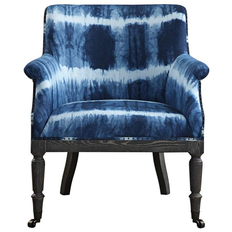 Uttermost Royal Cobalt Fabric Accent Chair more views
