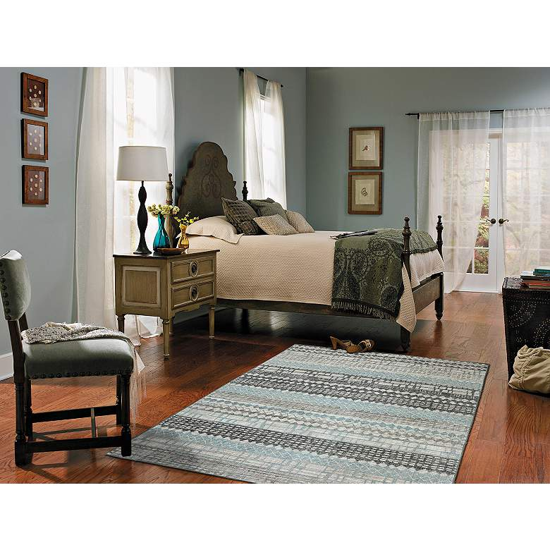 "Euphoria 90263 5'3""x7'10"" Eddleston Ash Gray Area Rug more views"