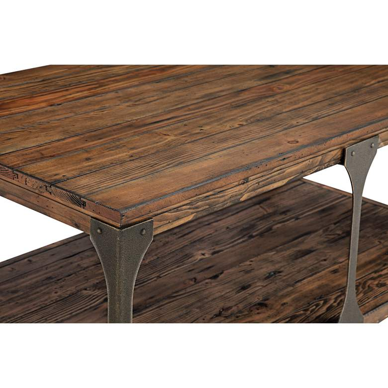 "Montgomery 48"" Wide Bourbon Wood Cocktail Table with Casters more views"
