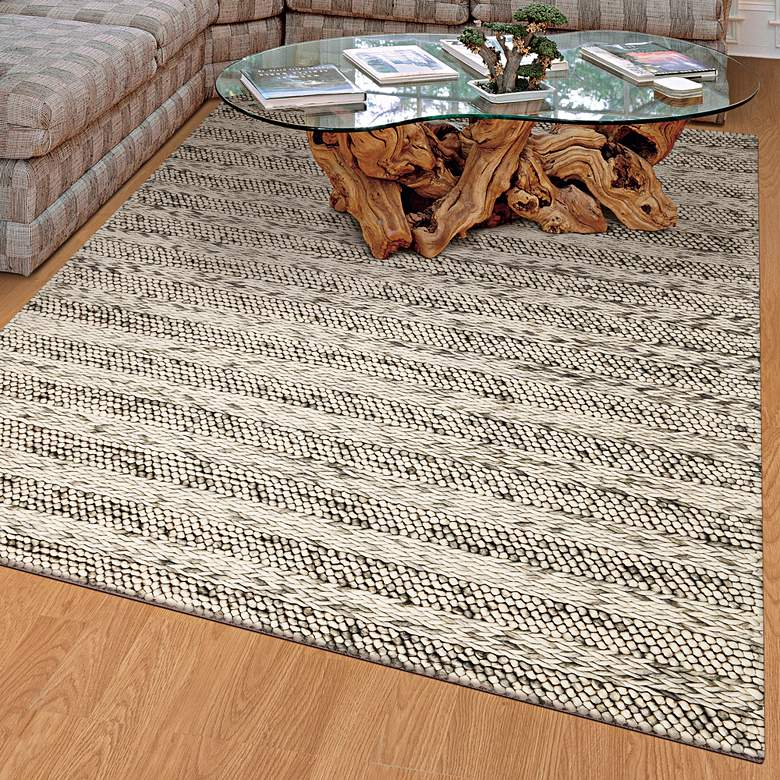 Cortico 6152 5'x7' Gray Heather Wool Area Rug more views
