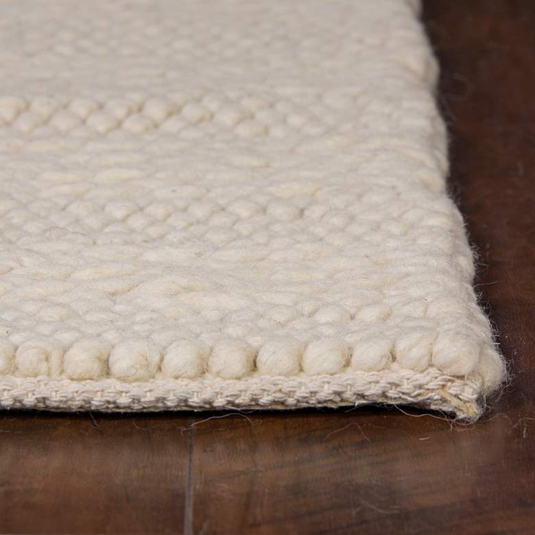 Cortico 6155 5'x7' Winter White Wool Area Rug more views