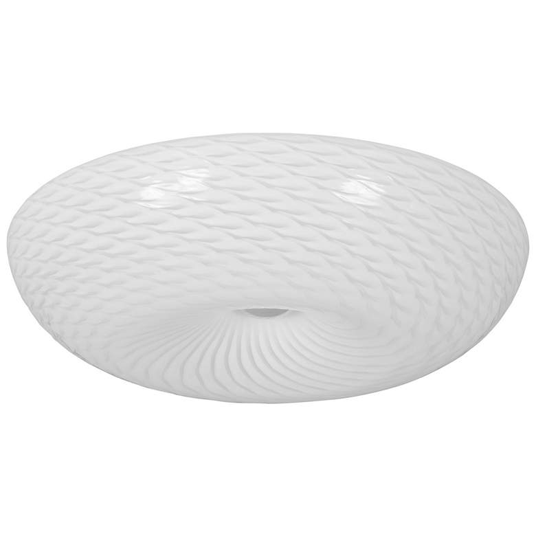 "Varaluz Swirled 18"" Wide French Feather Glass Ceiling Light more views"