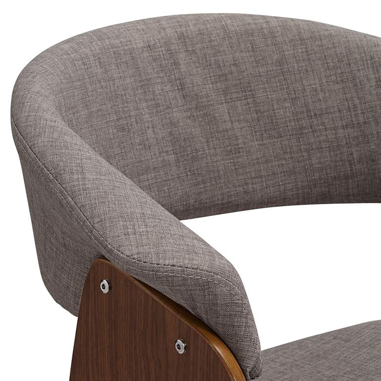 Summer Light Gray Fabric and Walnut Wood Dining Chair more views