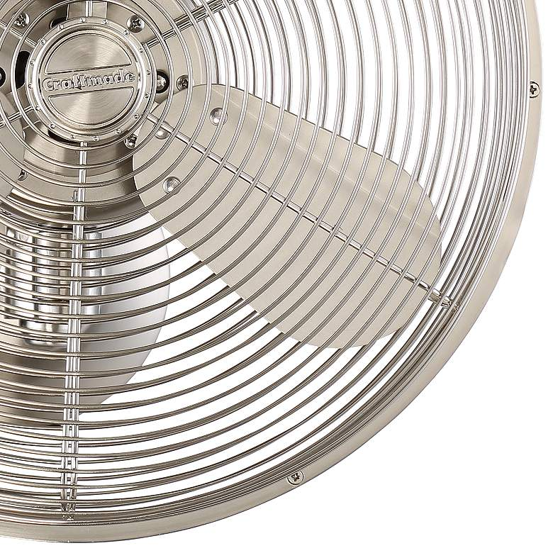 "14"" Craftmade Bellows IV Brushed Nickel Damp Wall Fan more views"