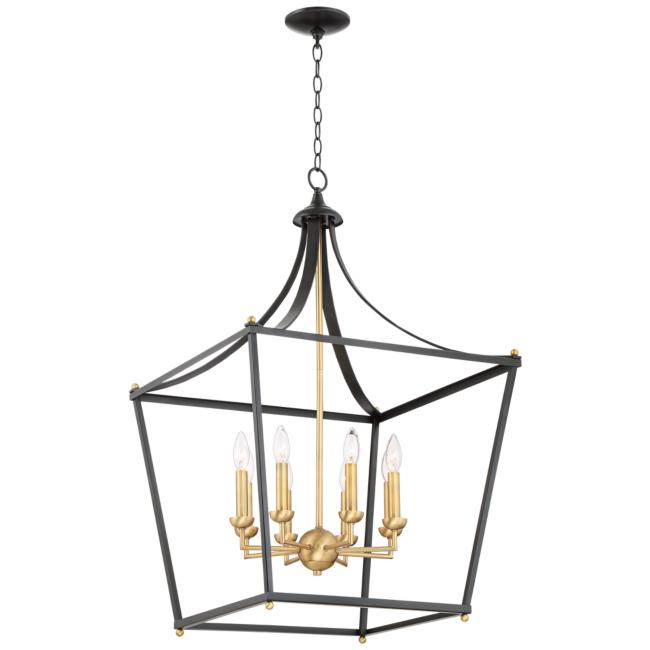 "Sumpter 22"" Wide Bronze and Brass 8-Light Chandelier"
