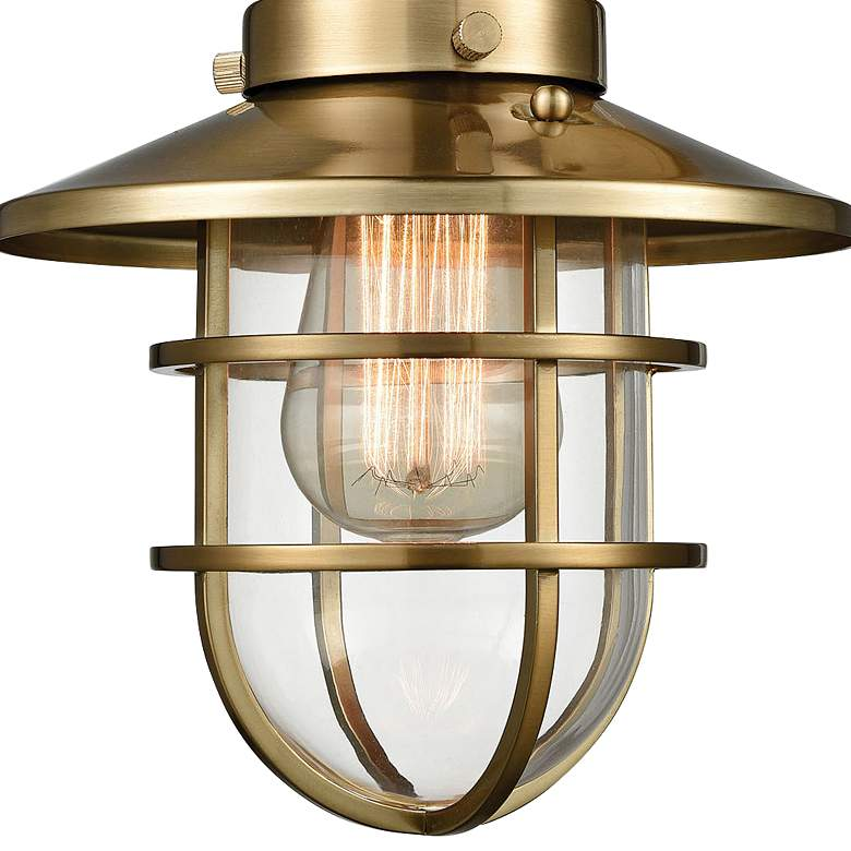 "Seaport 13"" High Large Satin Brass Wall Sconce more views"