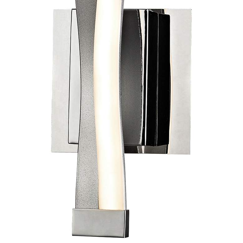 "Twist 15"" High Aluminum and Chrome LED Wall Sconce more views"
