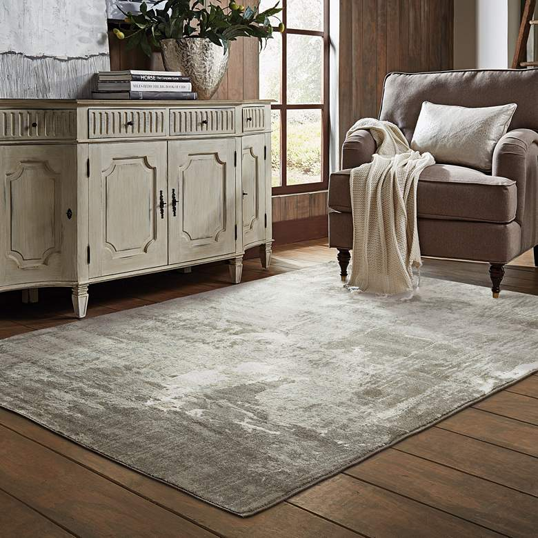 "Rowan 2067W 5'3""x7'6"" Ivory and Gray Area Rug more views"