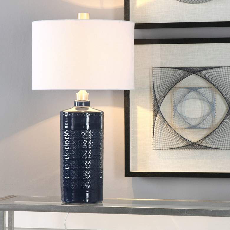 Uttermost Thalia Blue Ceramic Table Lamp more views