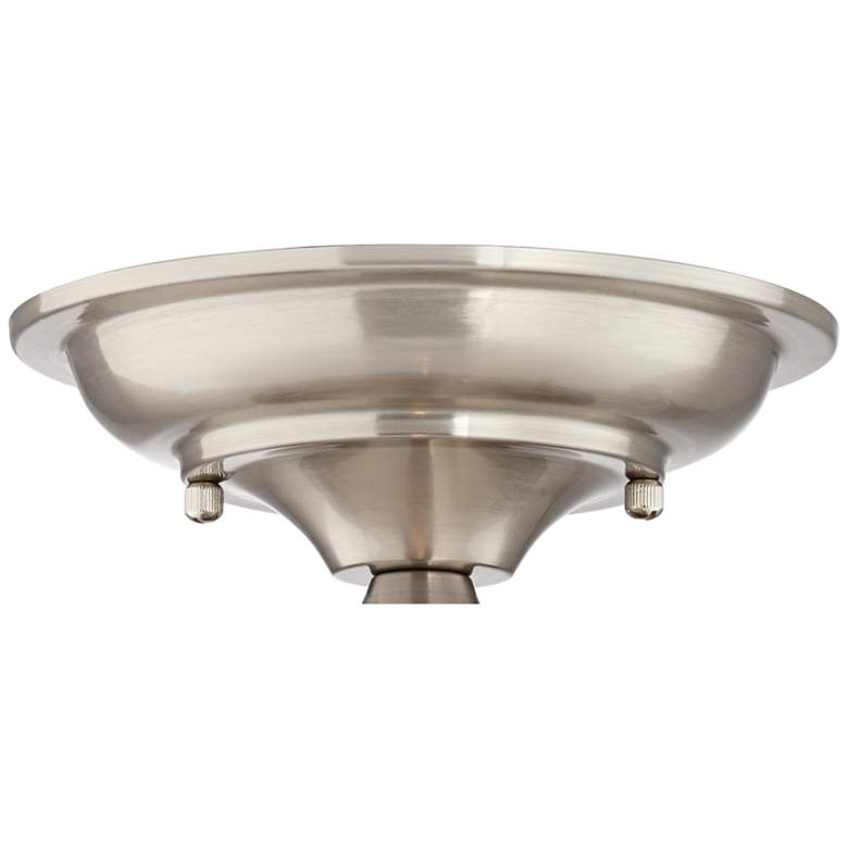 "Schoolhouse Floating 12""W Brushed Nickel Clear Ceiling Light more views"