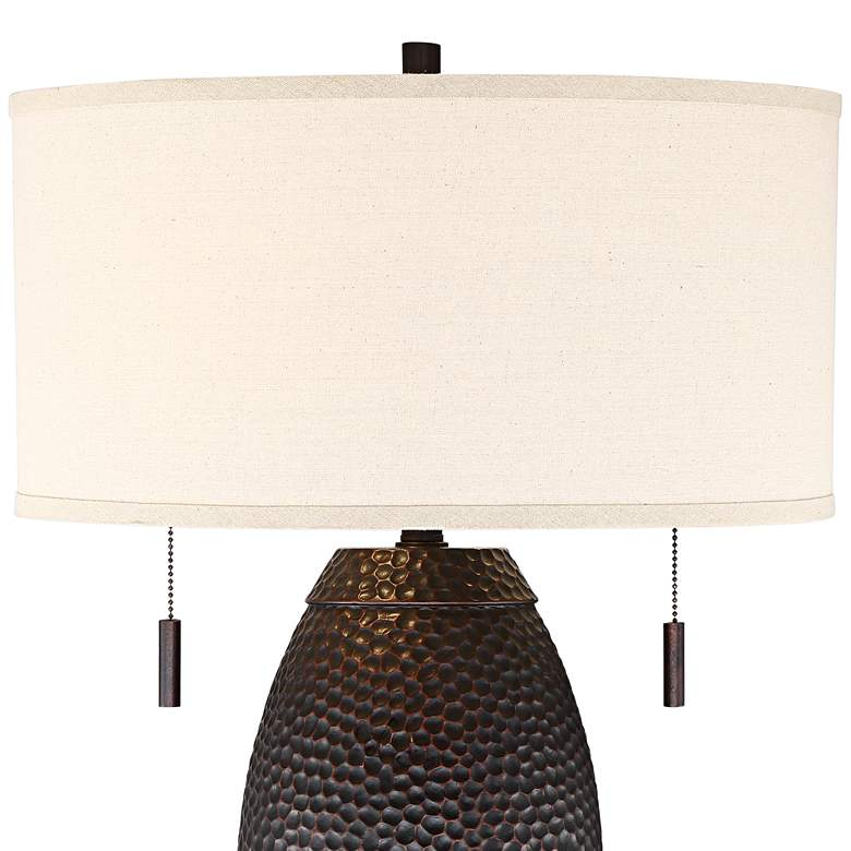 Noah Hammered Bronze Table Lamp more views