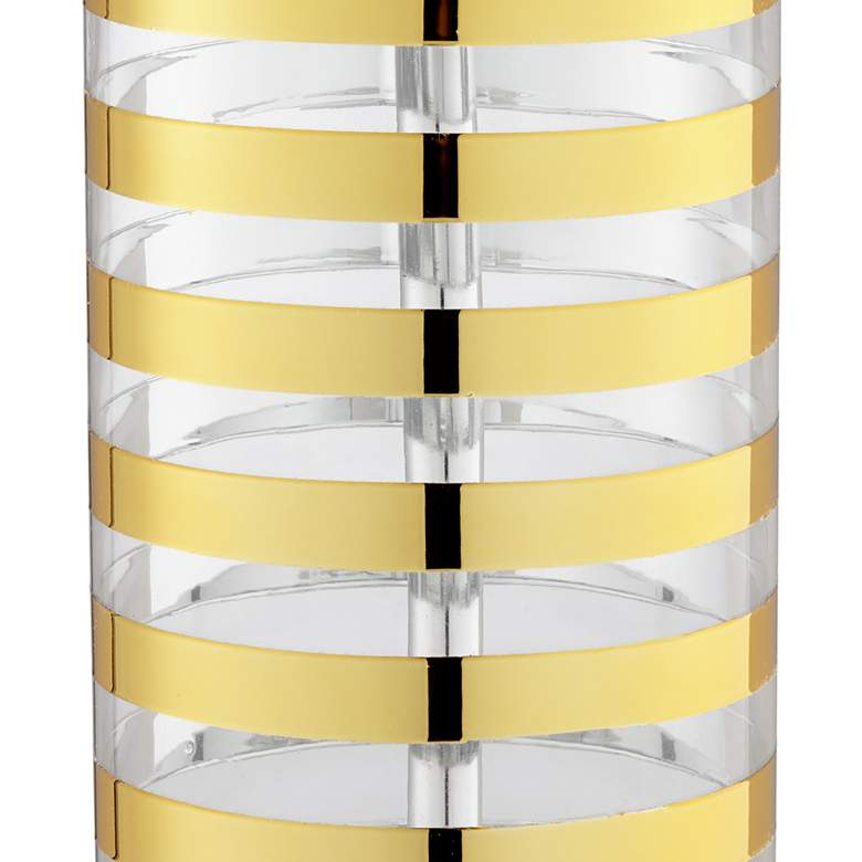 Aubrey Gold Stripe Glass Table Lamp more views