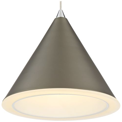 "Possini Euro Cassidy 7 1/2""W Black Nickel LED Mini Pendant"