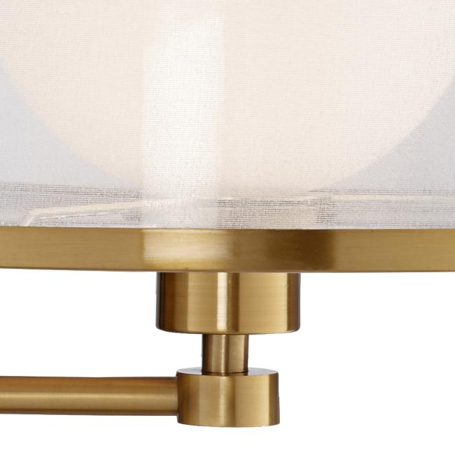 Granview Warm Antique Brass Sheer Shade Swing Arm Wall Lamp
