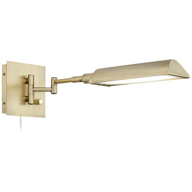 Jaxon Antique Brass Pharmacy LED Swing Arm Wall Lamp