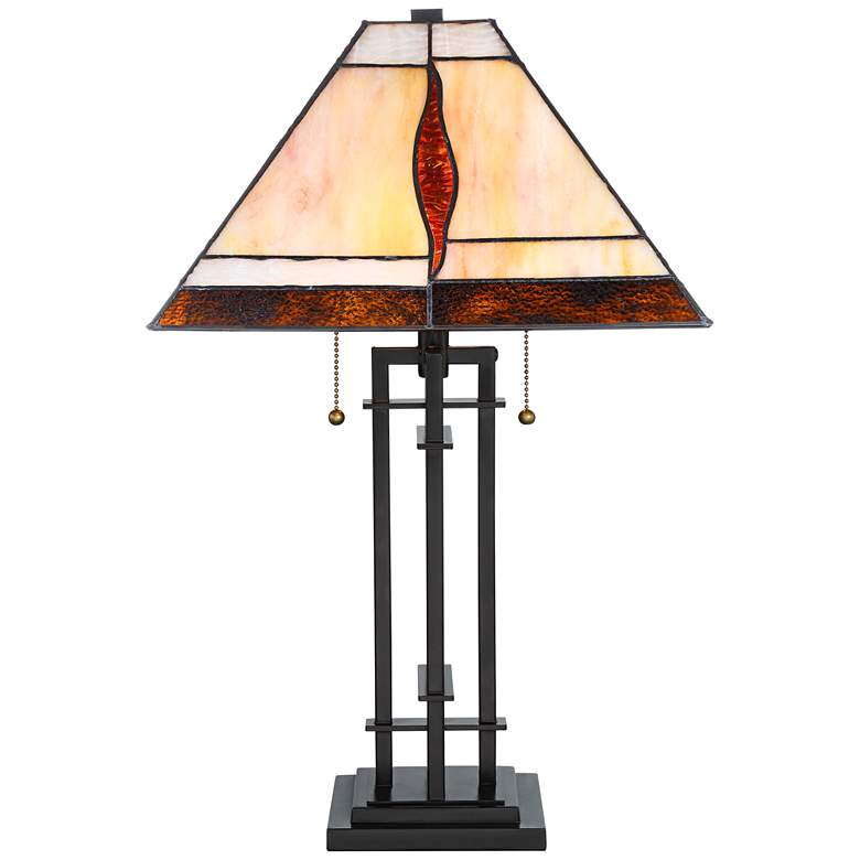 Robert Louis Tiffany Lewis Metal Accent Table Lamp more views