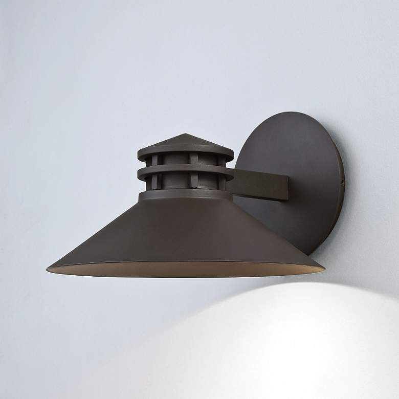 "dweLED Sodor 7"" High Bronze LED Outdoor Wall Light more views"