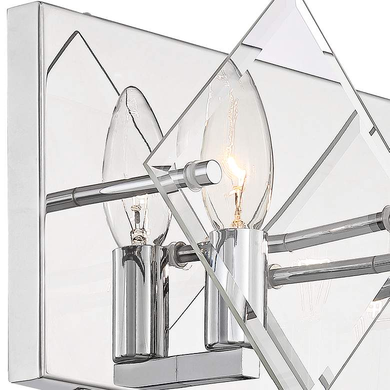"Possini Euro Collins 7 1/2"" High Chrome 2-Light Wall Sconce more views"