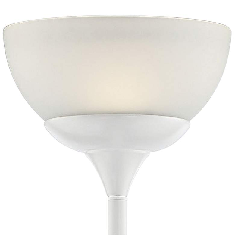 Lite Source Ward White LED Torchiere Floor Lamp more views