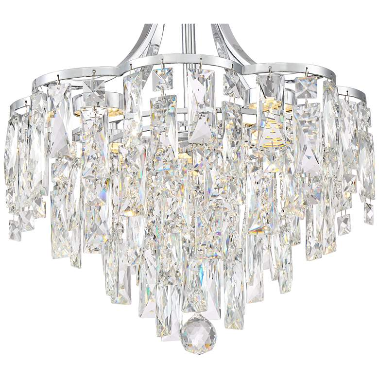 "Villette 15 3/4"" Wide Chrome LED Crystal Pendant Light more views"