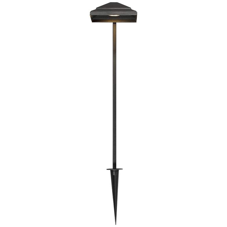 "Basset 23"" High Textured Black LED Landscape Path Light more views"