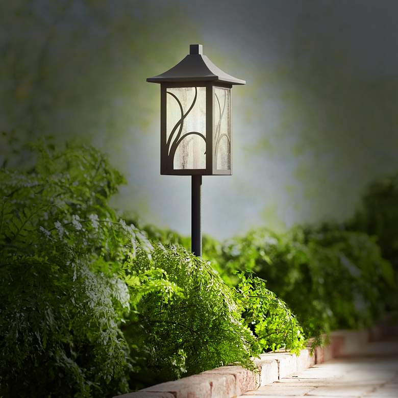 "Sleator 23 3/4"" High Textured Black LED Landscape Path Light more views"